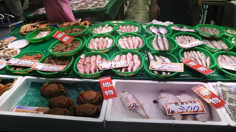 近江町市場 のどぐろなど鮮魚