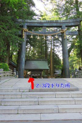 諏訪大社 三之御柱の場所