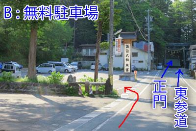諏訪大社本宮駐車場